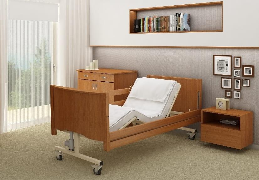łóżko Rehabilitacyjne Taurus Lux Z Leżem Drewnianym